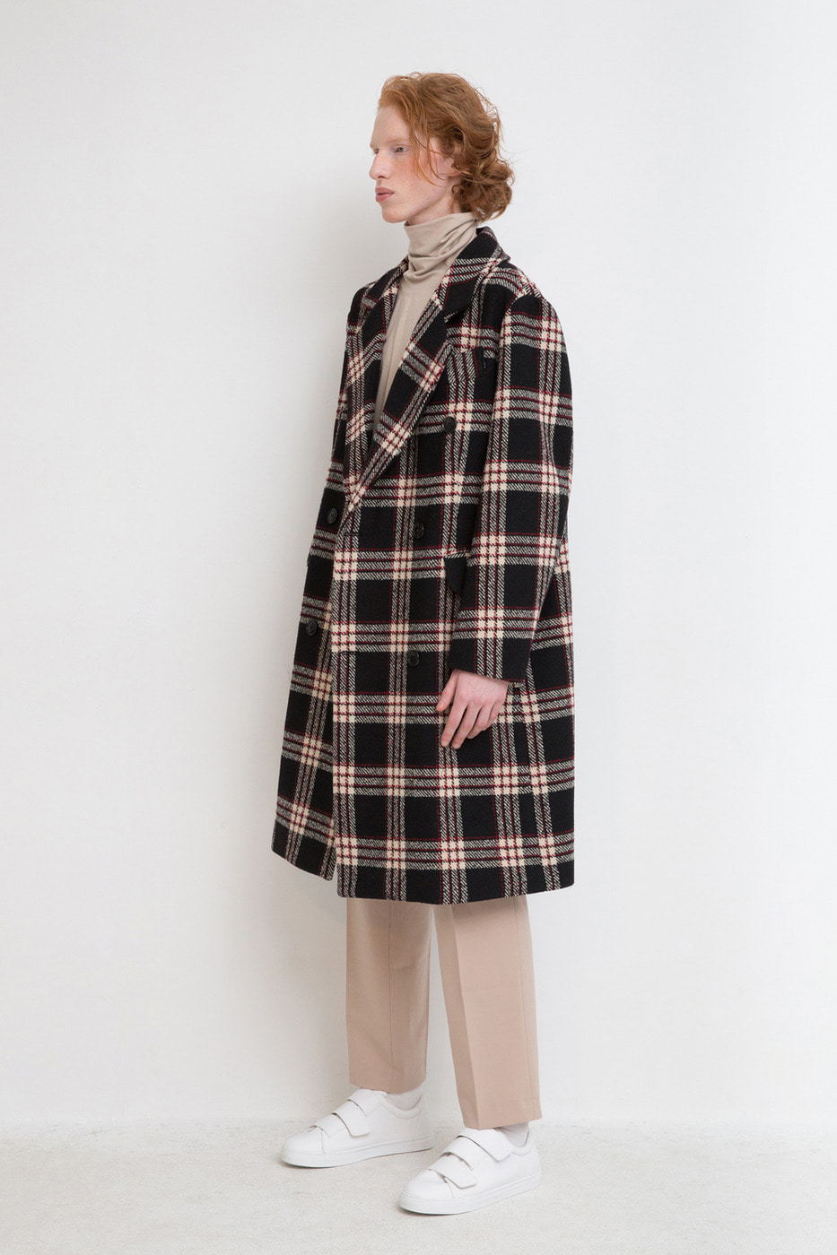 Oversized Double-Breasted Coat